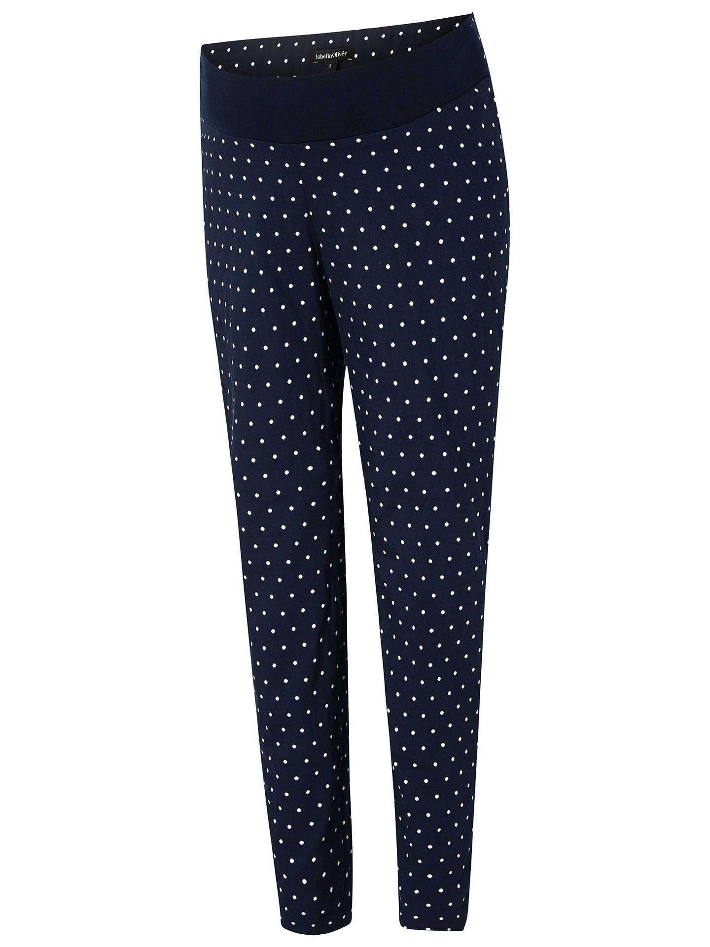 c3c30c16109c5 Buy Isabella Oliver Karina Polka Dot Cigarette Trousers, Navy, 8 Online at  johnlewis.