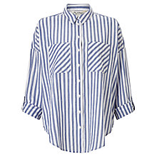 Buy Miss Selfridge Stripe Split Back Shirt, Multi Online at johnlewis.com