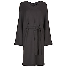 Buy Jaeger Wool V-Neck Slouchy Dress, Charcoal Online at johnlewis.com