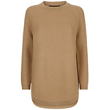 Buy Jaeger Curved Hem Jumper, Camel Online at johnlewis.com