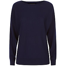 Buy Jaeger Cashmere Crew Neck Jumper, Navy Online at johnlewis.com