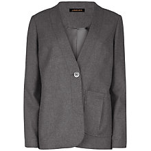 Buy Jaeger Pleat Pocket Detail Jacket, Charcoal Online at johnlewis.com