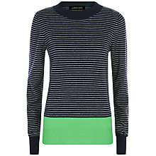 Buy Jaeger Fine Stripe Block Jumper, Blue/Green Online at johnlewis.com