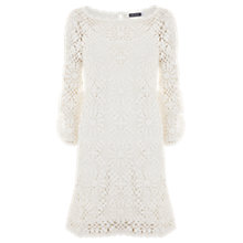 Buy Mint Velvet Crochet Dress, Ivory Online at johnlewis.com
