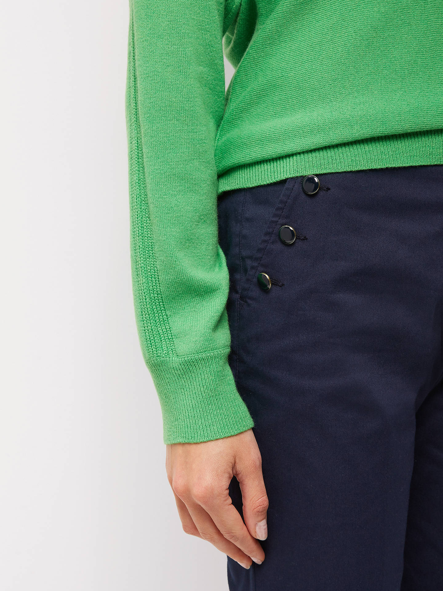 BuyJaeger Enamel Button Chinos, Navy, 6 Online at johnlewis.com