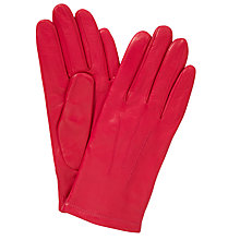 Buy John Lewis Leather Fleece Lined Gloves Online at johnlewis.com