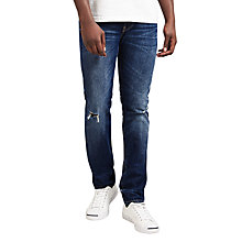 Buy Edwin ED-80 Slim Fit Tapered Jeans, Rainbow Selvage Denim Dark Wash Online at johnlewis.com