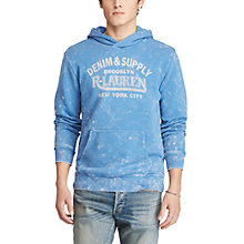 Buy Polo Ralph Lauren Popover Hoodie, Blue/Grey Online at johnlewis.com