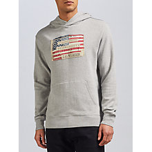 Buy Denim & Supply Ralph Lauren Pullover Hoodie, Grey Online at johnlewis.com