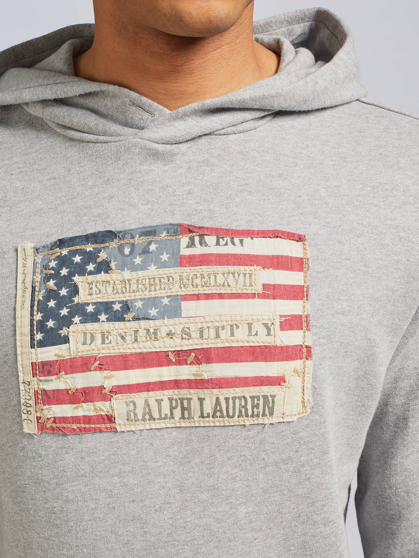 crazy price classic styles look out for Denim & Supply Ralph Lauren Pullover Hoodie, Grey at John ...