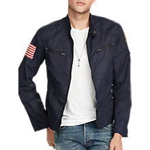 Buy Denim & Supply Ralph Lauren Motorcycle Unlined Jacket, RL Navy Online at johnlewis.com