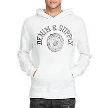 Buy Polo Ralph Lauren Popover Hoodie, White/Grey Online at johnlewis.com
