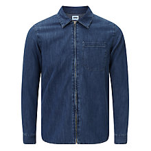 Buy Edwin Demo Zipped 12oz Selvedge Denim Shirt, Light Blue Online at johnlewis.com