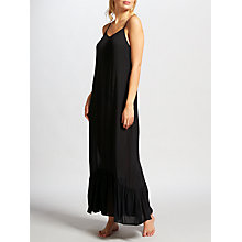 Buy John Lewis Frill Hem Maxi Dress, Black Online at johnlewis.com