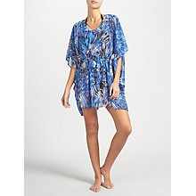 Buy John Lewis Feathered V-Neck Kaftan, Blue Online at johnlewis.com