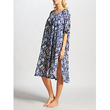 Buy John Lewis Anaconda Print Midi Kaftan, Blue Online at johnlewis.com