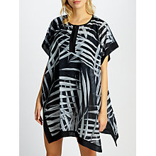 Buy John Lewis Balinese Palm Print Kaftan, Black Online at johnlewis.com