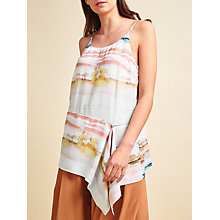 Buy Modern Rarity Drape Hem Cami Top, Waterfall Online at johnlewis.com
