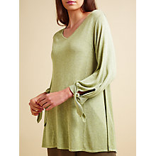 Buy Modern Rarity Tie Cuff Trapeze Knit Jumper, Khaki Online at johnlewis.com