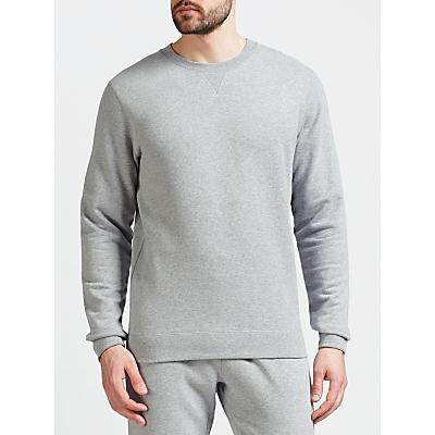 Sunspel Loopback Cotton Sweatshirt, Grey Melange