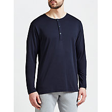 Buy Sunspel Pima Cotton Long Sleeve Henley Top Online at johnlewis.com