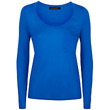 Buy Jaeger Patch Pocket T-Shirt, Bright Blue Online at johnlewis.com