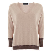 Buy Mint Velvet V Neck Knit Jumper, Pink Online at johnlewis.com
