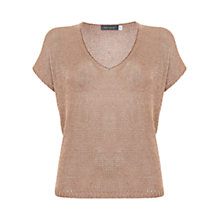 Buy Mint Velvet Metallic Tape Yarn T-Shirt Online at johnlewis.com