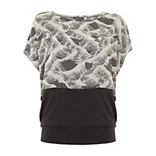 Buy Mint Velvet Liana Print Block T-Shirt, Multi Online at johnlewis.com