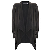 Buy Mint Velvet Draped Front Cardigan, Grey Online at johnlewis.com