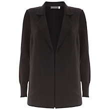 Buy Mint Velvet Cupro Boyfriend Cardigan, Black Online at johnlewis.com