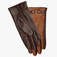 Buy John Lewis Fleece Lined Stud Leather Gloves Online at johnlewis.com