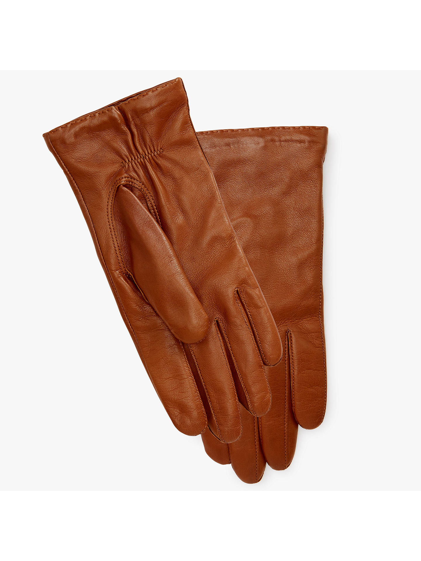 5c9e43a34 Buy John Lewis Cashmere Lined Leather Gloves, Tan, XS Online at  johnlewis.com ...