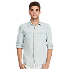 Buy Denim & Supply Ralph Lauren Slim Fit Cowboy Shirt, Indigo Lt Online at johnlewis.com