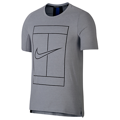 Nike Court Dry Tennis Men's Top, Grey/Black