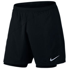"Buy Nike Flex 7"" 2 in 1 Running Shorts, Black Online at johnlewis.com"