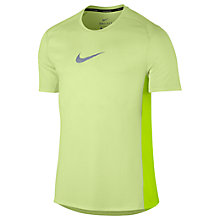 Buy Nike Dry Miler Running Top, Volt Online at johnlewis.com