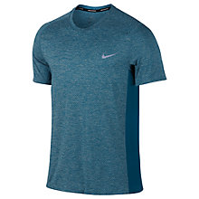 Buy Nike Dry Miler Running Top, Blue Online at johnlewis.com