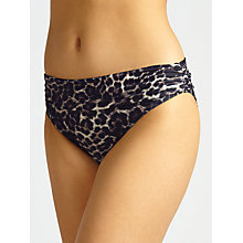 Buy John Lewis Sultry Leopard Fold Down Bikini Briefs, Multi Online at johnlewis.com