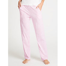 Buy John Lewis Martha Jersey Pyjama Bottoms, Pink/White Online at johnlewis.com
