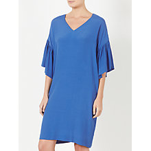 Buy Kin by John Lewis Frill Sleeve Dress, Blue Online at johnlewis.com