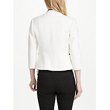 Buy John Lewis Claudine Tipped Ponte Jacket, White Online at johnlewis.com