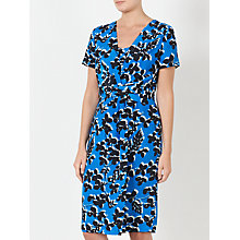 Buy John Lewis Cherry Blossom Twist Dress, Blue Online at johnlewis.com