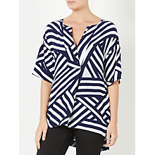 Buy Kin by John Lewis Englarged Tile Print Top, Blue/White Online at johnlewis.com