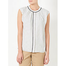 Buy John Lewis Lucienne Pin Dot Top, White Online at johnlewis.com