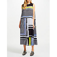 Buy Kin by John Lewis Colour Block Pleat Dress, Multi Online at johnlewis.com