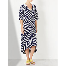 Buy Kin by John Lewis Enlarged Tile Print Dress, Blue/White Online at johnlewis.com