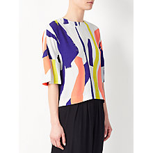 Buy Kin by John Lewis Laura Slater Limited Edition Gestural Painterly Print Back Tie Top, Multi Online at johnlewis.com