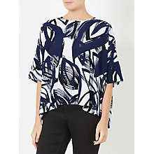 Buy Kin by John Lewis Naive Floral Pocket Top, Navy Online at johnlewis.com