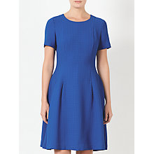Buy John Lewis Fit And Flare Dogstooth Dress, Blue Online at johnlewis.com